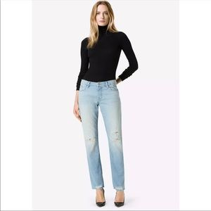 J Brand Amelia Mid Rise Straight Jeans Destructed